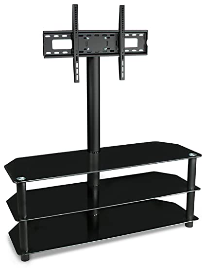 Amazon Com Mount It Tv Stand With Mount And Glass Shelves For