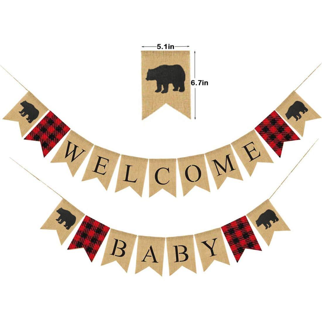 Amazon.com: Lumberjack - Pancarta de bienvenida para bebé ...