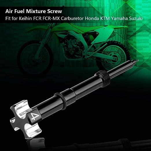 TOOGOO CNC Facile Regolabile Miscela di Carburante Vite Moto ATV Dirt Bike Keihin Fcr MX Carbs Motore Carby Motore 4 Tempi Strumento di Regolazione del Carburatore Nero