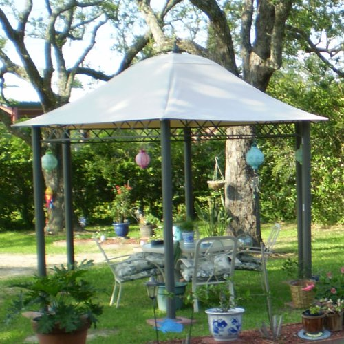 Garden Winds Hexagon Dome Gazebo Replacement Canopy Top Cove