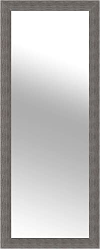 Everly Hart Collection Woodgrain Framed Wall Mounted or Leaner Mirror