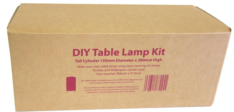 Diy table lamp kit tall cylinder 150mm x 380mm high amazon diy table lamp kit tall cylinder 150mm x 380mm high amazon kitchen home aloadofball Choice Image