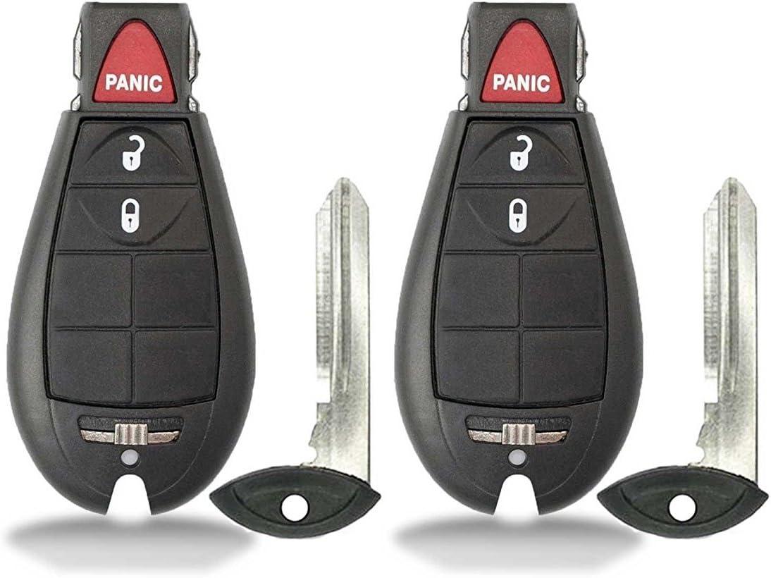 2 For Dodge Grand Caravan 7B Keyless Entry Remote Start Van Key Fob IYZ-C01C