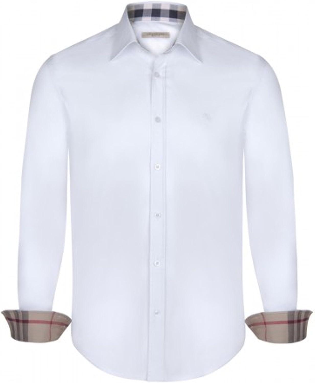 Burberry - Polo - Manga Larga - para Hombre Blanco Large: Amazon ...
