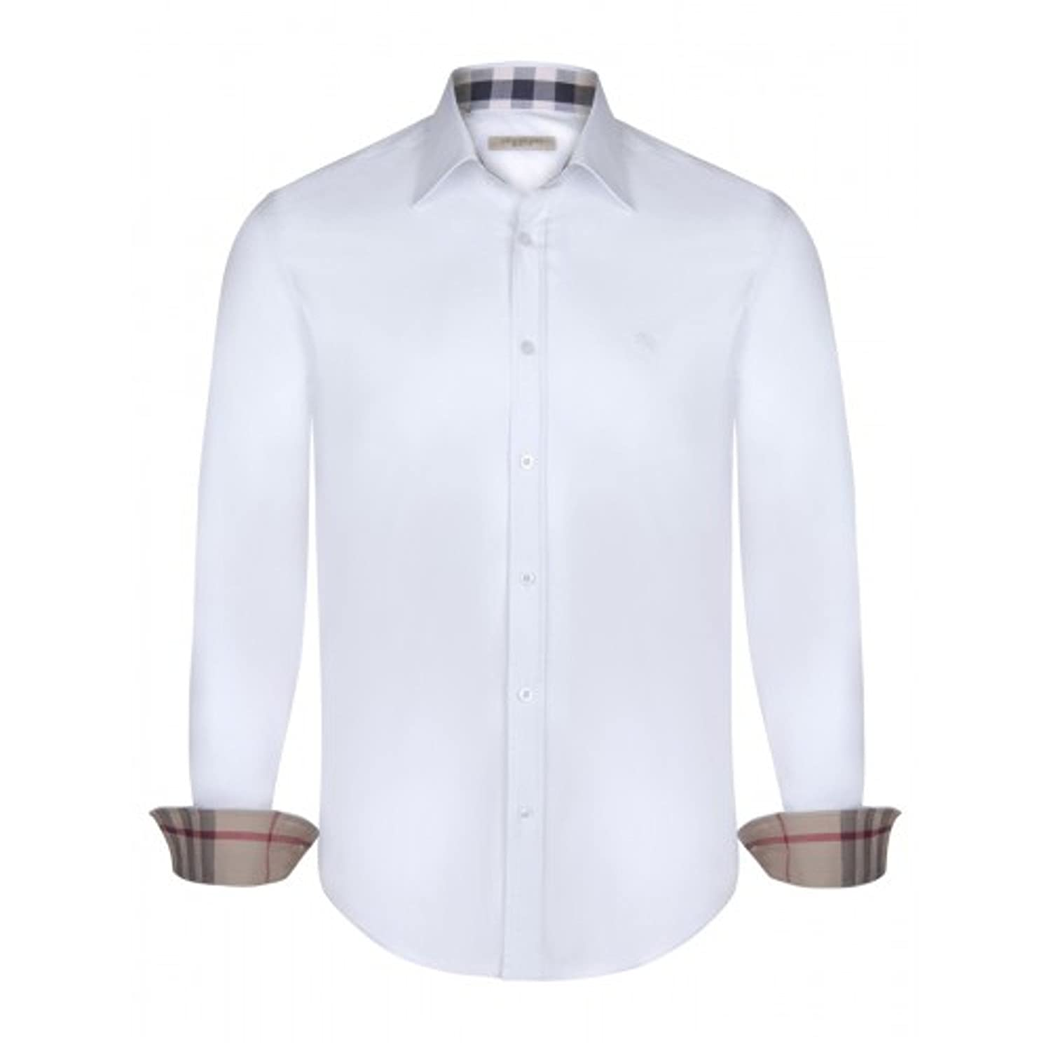 Burberry - Polo - Manga Larga - para Hombre Blanco Large: Amazon ...