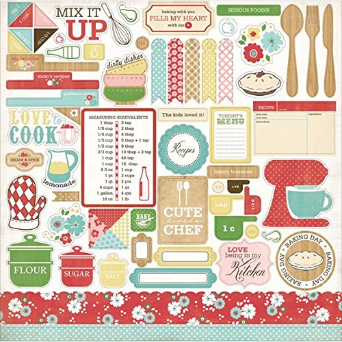 Echo Park Paper Homemade with Love Cardstock Stickers, 12 by 12-Inch, ()