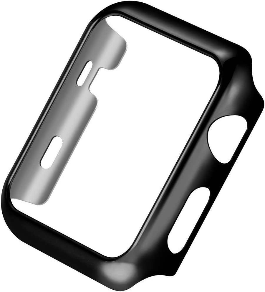 Apple Watch Series 3 Case,Mangix Super Thin PC Plated Plating Protective Bumper Case for for for Apple Watch Series 3/Edition/Nike+ (42mm Black)