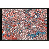 BEYONDTHEWALL® Archive Where's Wally? Land Of Woofs Humour Novelty Print (24x36 Framed Poster)