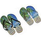 89e1af0fcfae7e Bespoke Personalised His and Hers Honeymoon Beach Flip Flops Ladies One  Size UK 4-8