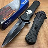 NEW Dark Side Blades Black Punisher Fantasy Tactical Folding Rescue Pocket Knife