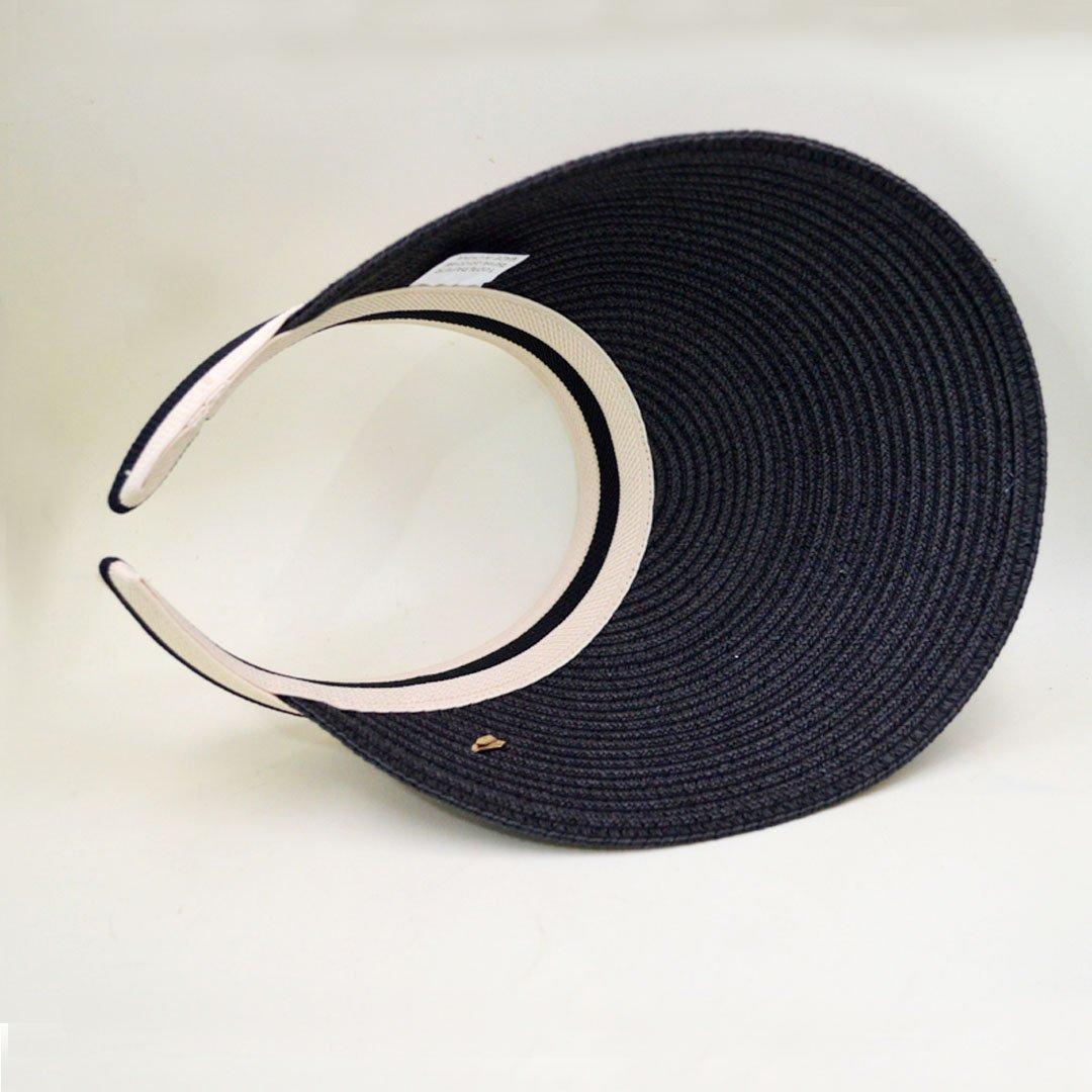 CLARA Women Summer Sun Visor Large Brim Straw Beach Sun Hat Outdoor Sports Cap