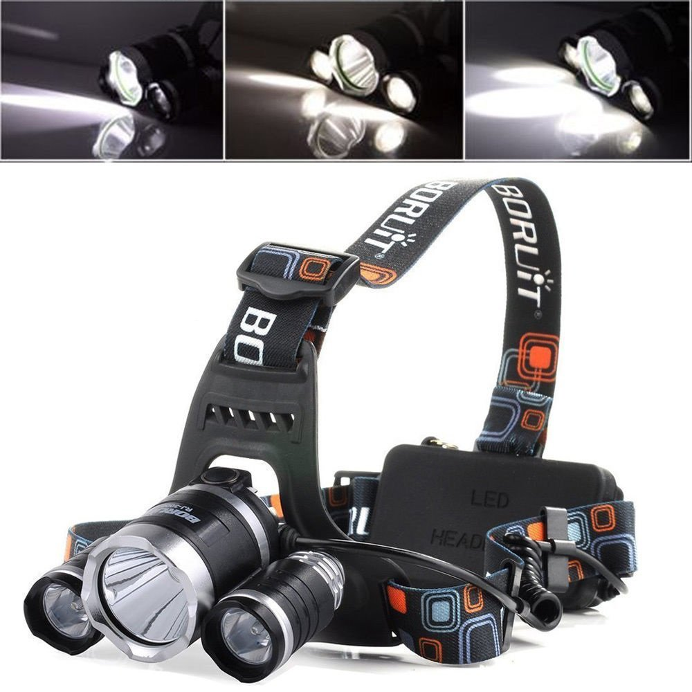 3X CREE XML T6 LED Head Torch Light Lamp Headlight Headlamp Rechargeable 3000LM Outdoor Sport Accessory