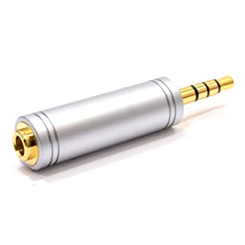 8ffacd4e2e5 kenable 3.5mm 3 Pole Stereo Socket to 17mm 4 Pole 3.5mm  Amazon.co ...