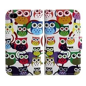 IPhone de Apple 4 4S polipiel blanco Little Owl Diseño Cubierta del caso del protector de la cubierta del caso del tirón thematys®