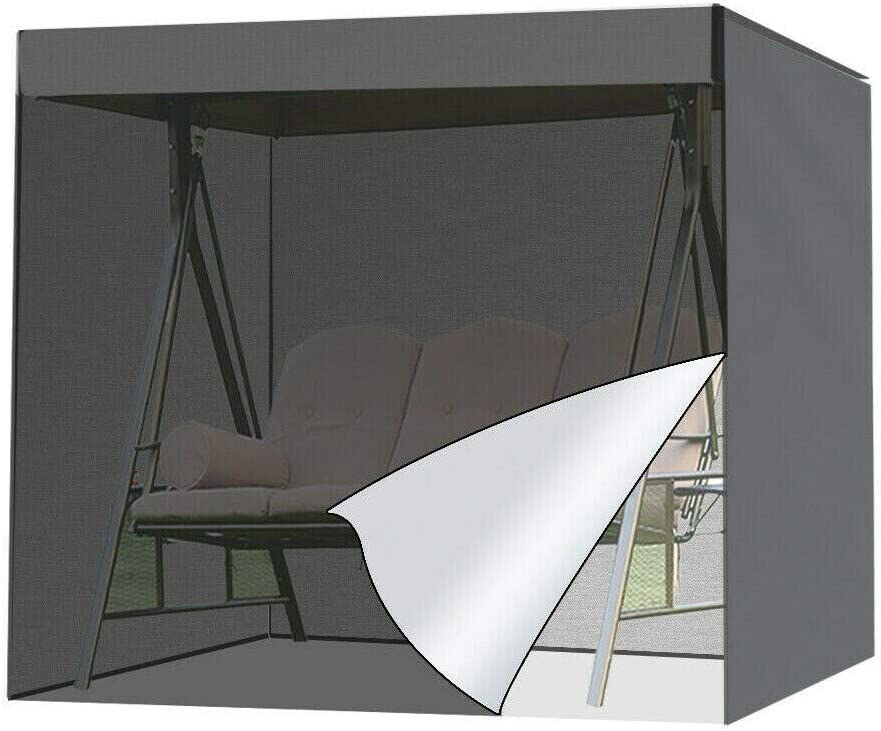 Patio Swing Cover, Porch Swing Cover 210D UV Resistant Hammock Glider Cover Waterproof Patio Furniture Cover for Outdoor Garden Furniture