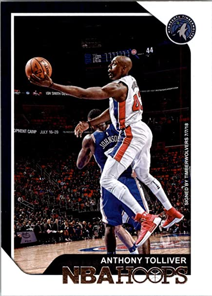 promo code 8f25b a0e41 2018-19 NBA Hoops Basketball #104 Anthony Tolliver Minnesota ...