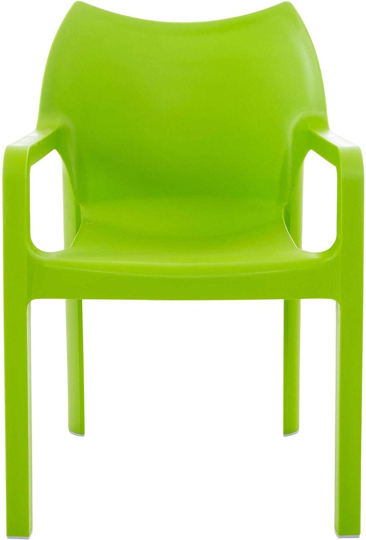 CLP cuisine design de qualit/é pour chaise de jardin empilables avec accoudoirs coloris au choix Moderne bleu clair dIVA