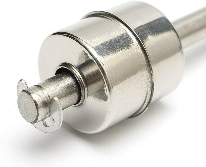 interruptor de flotador vertical utilizado en electricidad control de nivel y alarma Interruptor flotante Supertool con sensor de nivel de agua l/íquida de acero inoxidable drenaje