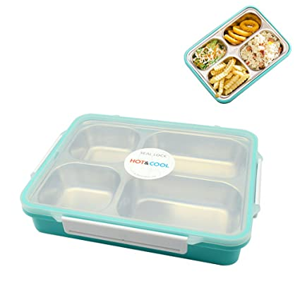 Bon Luxanna Stainless Steel Lunch Box For Kids Adults, Leak Proof Food Storage  Container,