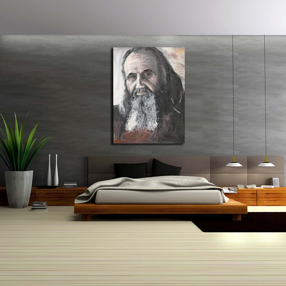 Pitaara Box Portrait A of A Portrait Priest Unframed Canvas Painting 36 x 48.3inch fbc2f4