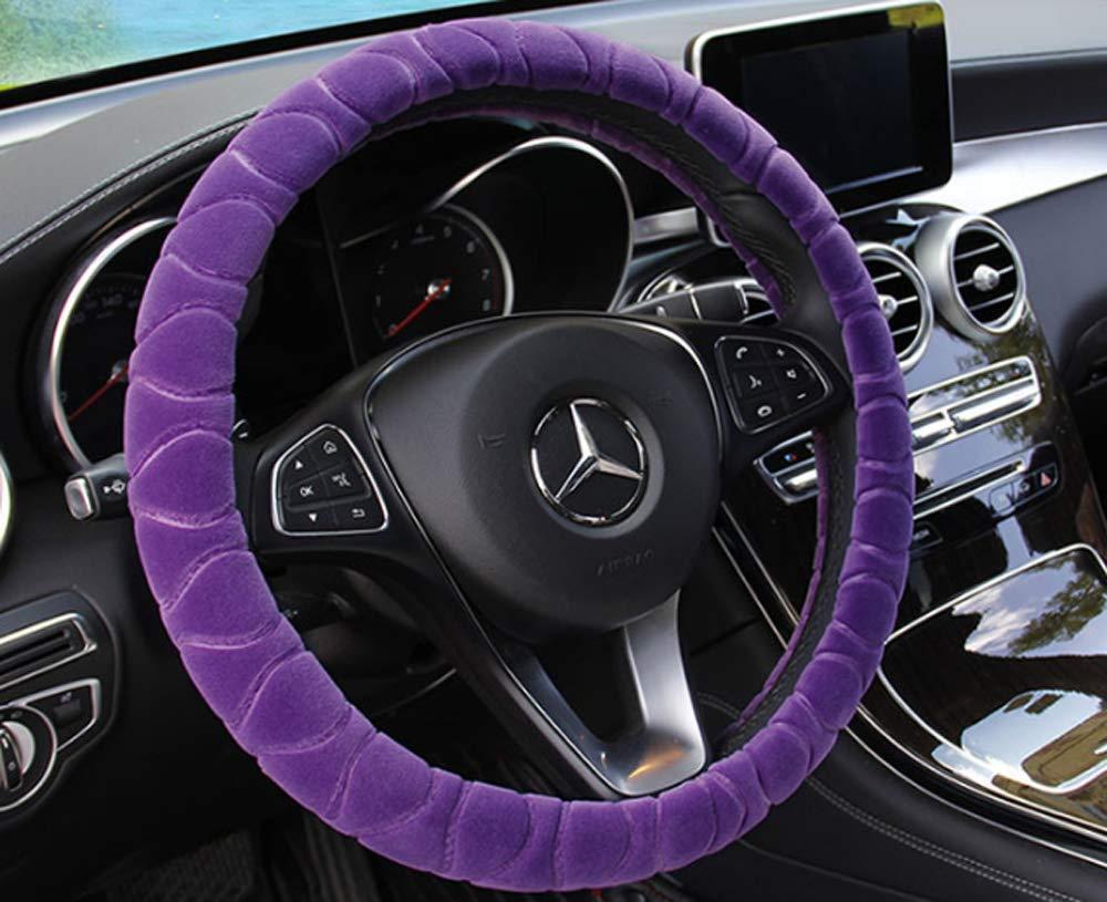 Lenkrad Abdeckung Kunstfell Winter Warm Lenkrad Wrap passt den meisten Auto 37cm 38cm Gr/ö/ße Innenzubeh/ör grau