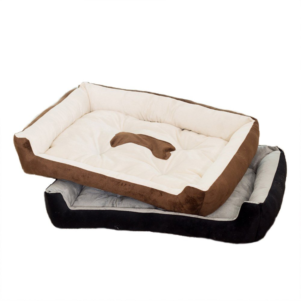 Black,M Pet Online Pet large and small dog bed cat bed Tidy warm soft bed four Seasons apply five models optional, M, black