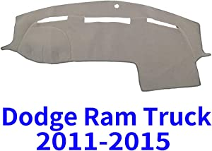 JIAKANUO Auto Car Dashboard Carpet Dash Board Cover Mat Fit for Dodge Ram Truck 2011-2015 (Grey)(MR-014)