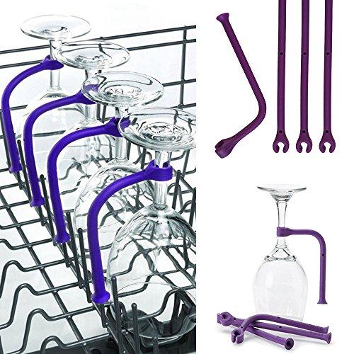 Hongxin Adjust Silicone Wine Glass Dishwasher Goblet Holder