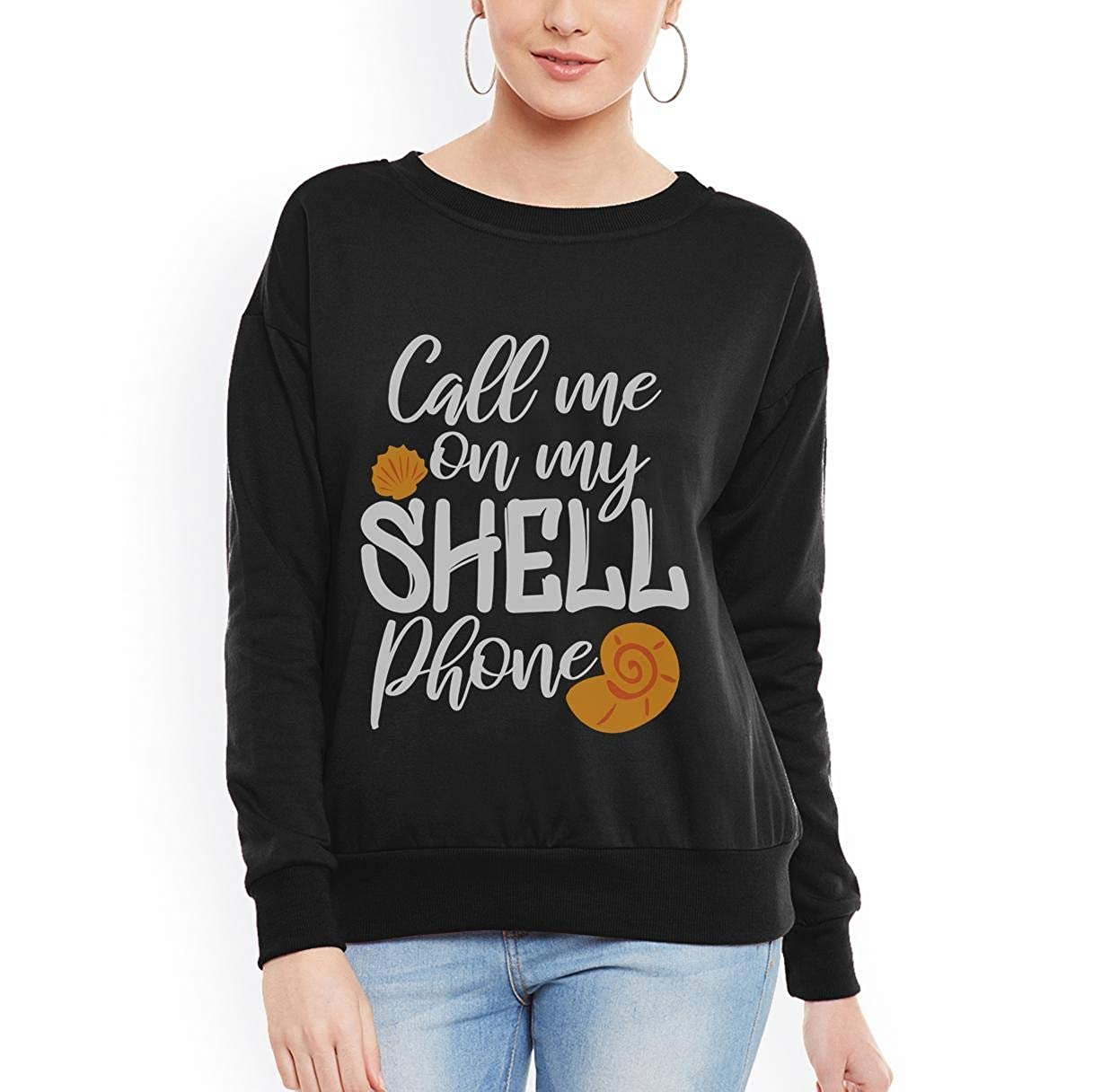 Call me on My Shell Phone Summer Ocean Women Sweatshirt tee