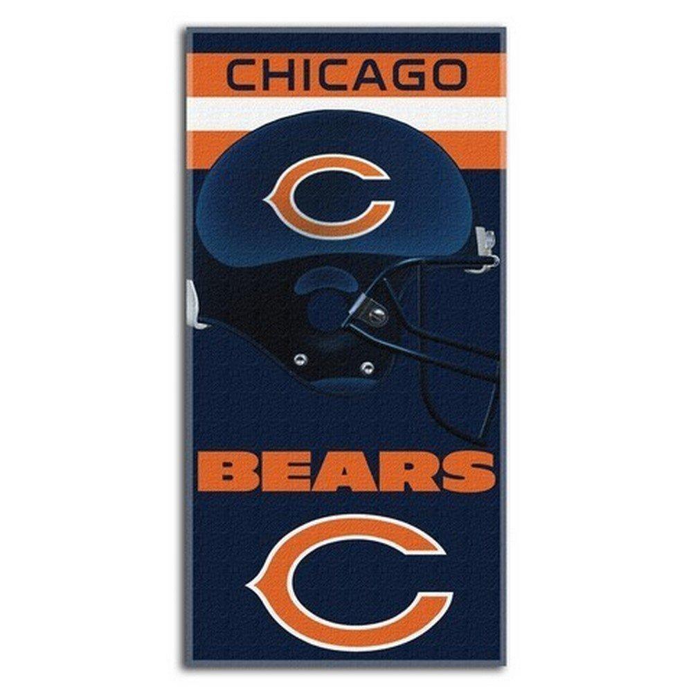 Chicago bears bathroom accessories - Amazon Com Nfl Chicago Bears Banner Beach Towel 30 X 60 Inch Sports Fan Beach Towels Sports Outdoors