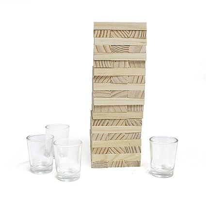 Balvi Juego De Mesa Timber Juego De Mesa De Bloques De Madera Con 4