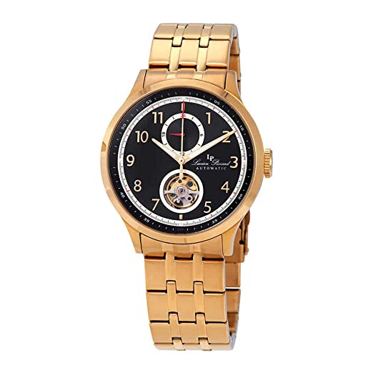 Lucien Piccard Open Heart GMT II - Reloj automático para Hombre, Esfera Negra LP-28010A-YG-11-GB: Amazon.es: Relojes