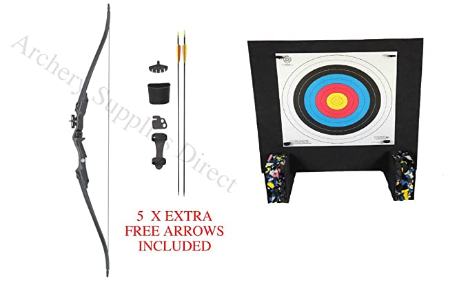 Black Archery Foam Target Kit With Stand With Pins /& Target