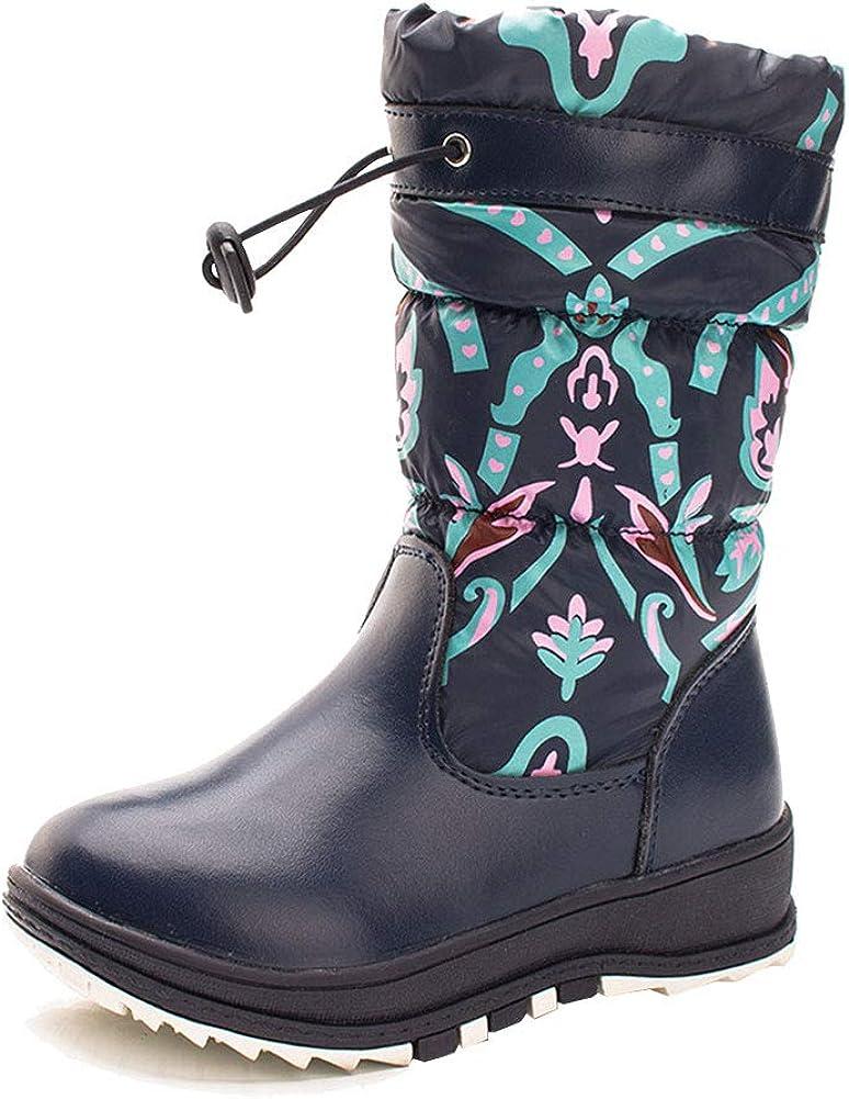 M/&A Girls Toddler//Little Kid Winter Waterproof Snow Boots