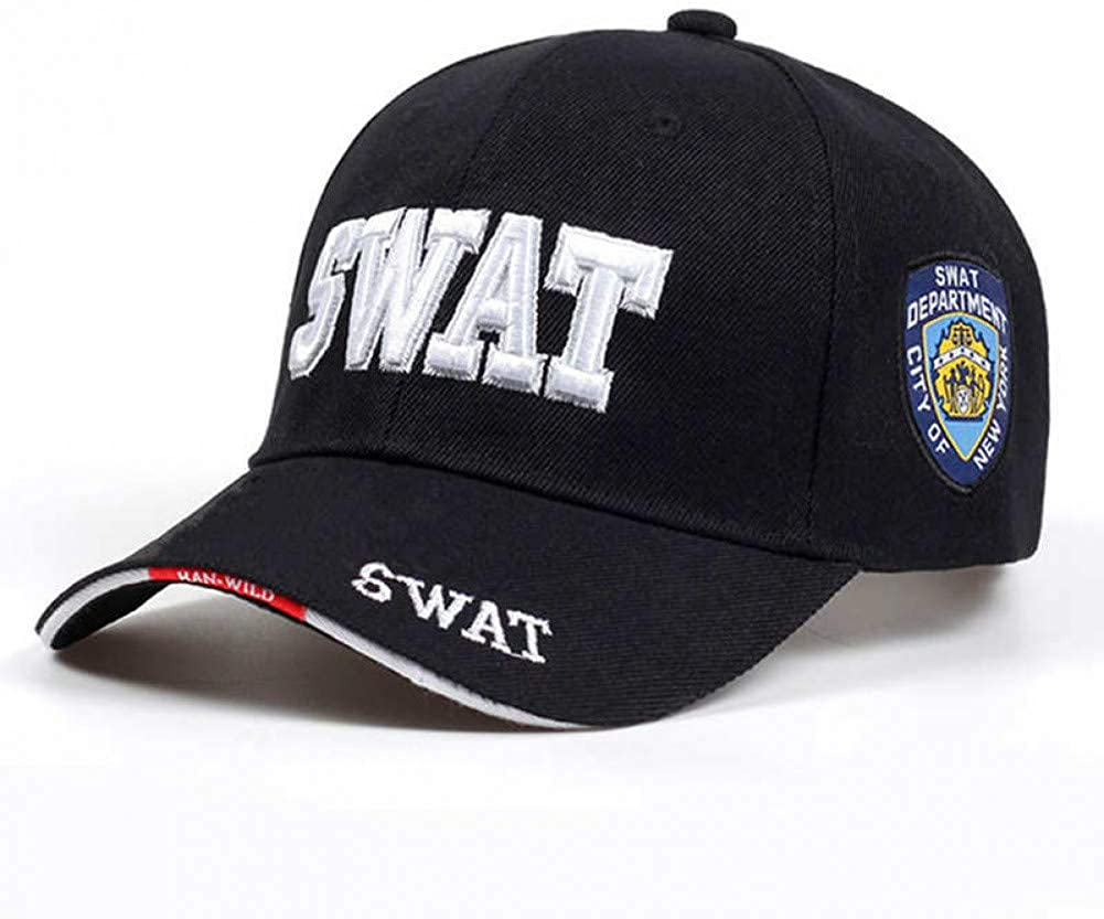 Fnito Baseball Cap Cap Herren Baseball Caps SWAT Cap SWAT M/ütze Snapback Caps Baumwolle Einstellbare Planas Man