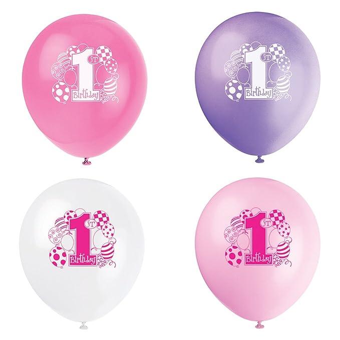 50 opinioni per Unique Party 23895- Palloncini Rosa per Primo Compleanno, Confezione di 8