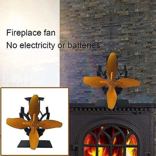 Estufas de leña 4 paletas del ventilador quemador de la estufa de ...