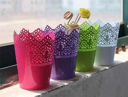 Buy buydee hosaire hosaire 7 colors durable metal vase with flowers