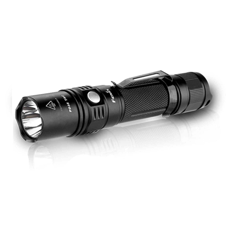 Fenix PD35 TAC (Tactical Edition) Taschenlampe Cree XP-L (V5) LED 1000 Lumen, taktisch, für 1 x 18650-Batterie oder 2 x CR123A-Batterien