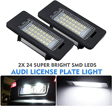 1x Bright Xenon White LED Upgrade Number Plate Licence Light Lamp Bulb
