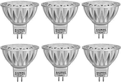 Amazon.com: Bombillas LED MR16 de 5 W y bombillas LED MR16 ...