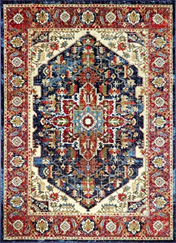 Luxe Weavers Howell Collection Oriental 8×10 Navy Area Rug 2525