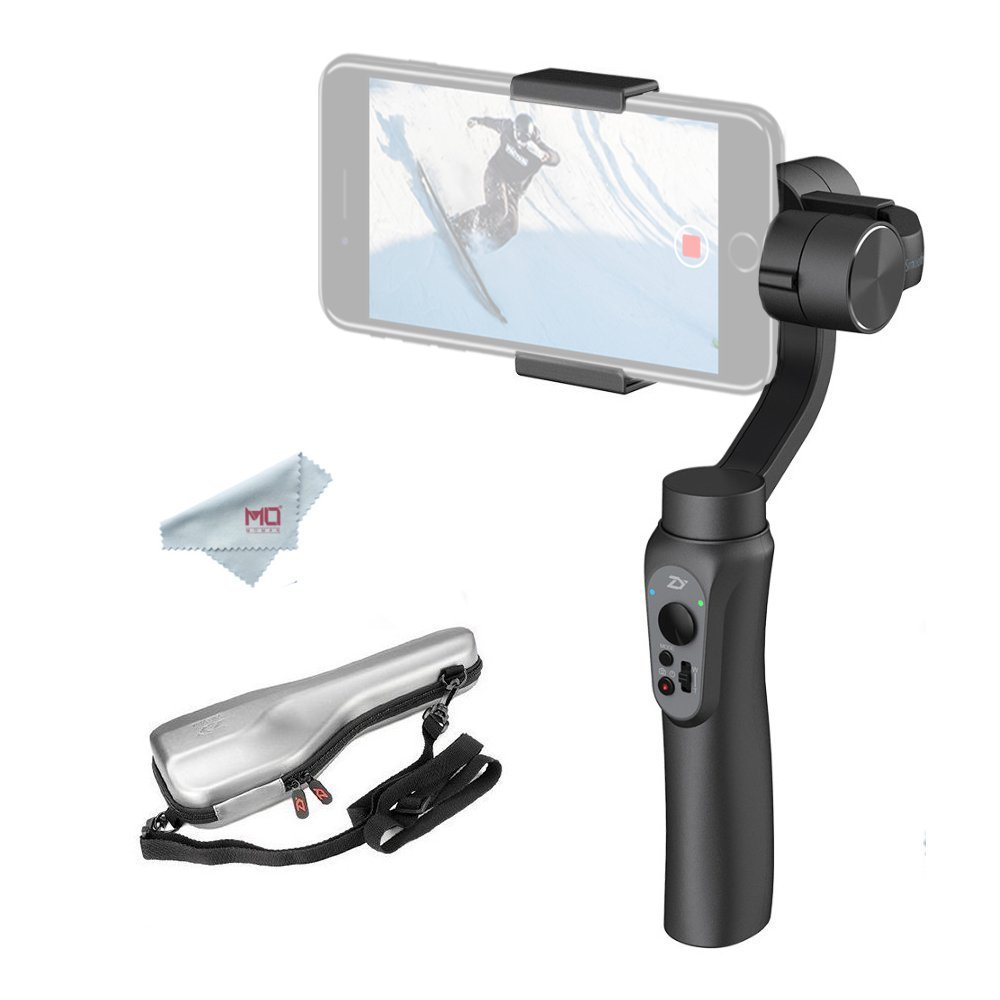 Zhiyun Smooth-Q 3-Axis Handheld Gimbal Stabilizer for Smartphone, i.e. iPhone 7 Plus 6 Plus, Samsung S7 S6, Featuring APP Control, Vertical Shooting, Face Tracking