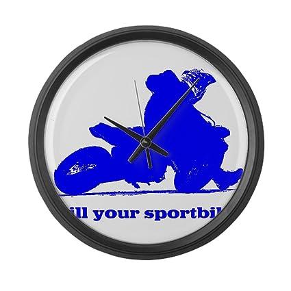 "CafePress – Yamaha Azul Kill your sportbi – Large 17 ""reloj de pared redondo"