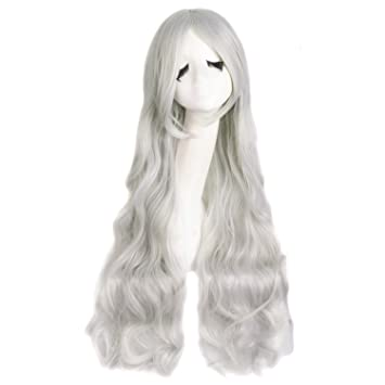 MapofBeauty Silver White Long Curly Cosplay Wig Costume Wigs  sc 1 st  Amazon.com & Amazon.com : MapofBeauty Silver White Long Curly Cosplay Wig Costume ...