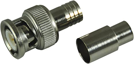 Crimp-On, Male, RG59 Ancor 203100 Marine Grade Electrical BNC Coaxial Cable Plug
