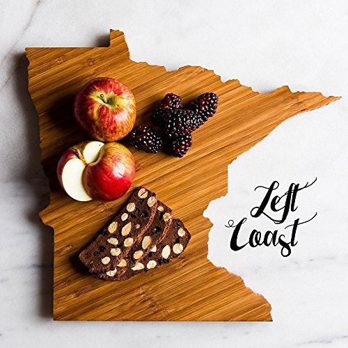 Home And Garden Cutting Board (Mothers Day Gift Minnesota Cutting Board Personalized State Wedding Gift Home Men Chef Dad Mom Grad Kitchen Chopping Monogram Engraved Carved Wood Shape Cook by Left Coast Original)
