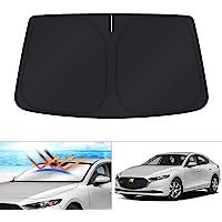 KUST Windshield Sun Shade for Mazda 3 2019 2020 2021 Mazda3 Window Shade Cover Sun Visor Sunshield Foldable Protector…