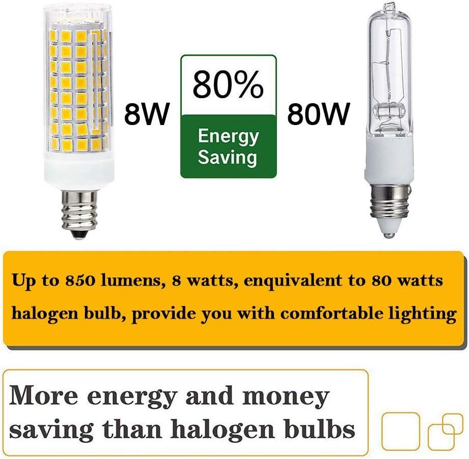Equivalent Ceiling Fan Bulbs 100W Warm White 3000K Home Light Fixtures Decorative. LED Candle Bulbs 850LM 4-Pack E12 Led Bulb Candelabra Light Bulbs 8W LED Chandelier Light Bulbs Base E12