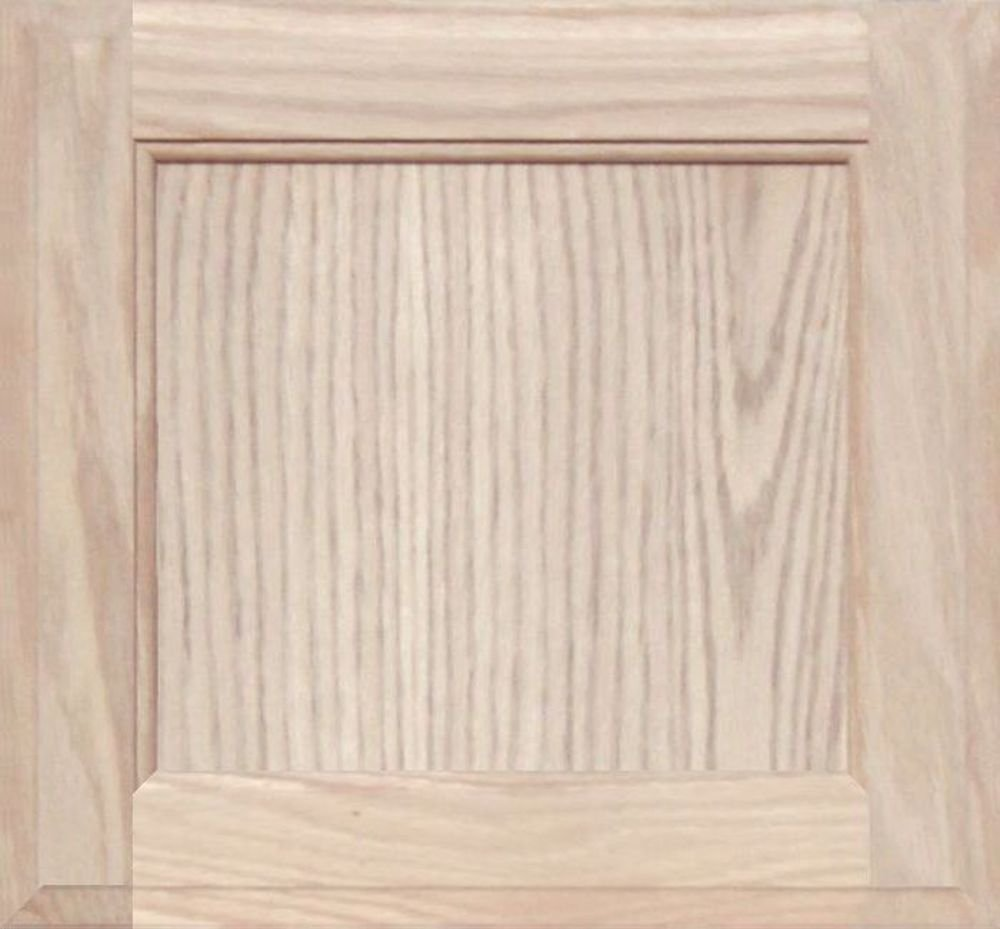 Unfinished Oak Square Flat Panel Cabinet Door by Kendor, 13H x 14W Kendor Wood Inc.